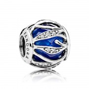 Talisman Abstract Fatetat Argint 925 Cristal Albastru Regal, CZ PANDORA