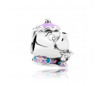 Talisman Disney Dna. Potts si Chip Argint 925 Email Multicolor PANDORA