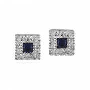 Cercei Aur 18k Diamante, Light Safire DERUVO