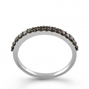 Inel Semi Eternity Aur 18k Diamante Negre DERUVO