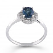 Inel Aur 18k Diamante, Topaz London DERUVO