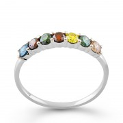 Inel Aur 18k Diamante Multicolore DERUVO