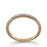 Inel Semi Eternity Aur 18k Diamante BLANCO'S
