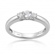 Inel Trilogy Aur 18k Diamante BLANCO'S